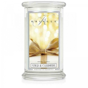 Kringle Candle Gold & Cashmere - duża świeca zapachowa - e-candlelove