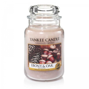 Yankee Candle Ebony & Oak - świeca duża - Candlelove