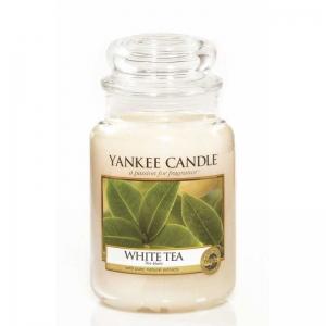 Yankee Candle White Tea - świeca duża - Candlelove
