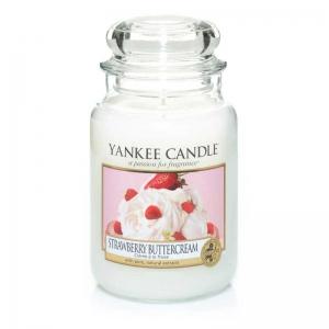 Yankee Candle Strawberry Buttercream - świeca duża - Candlelove