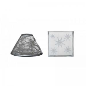 Yankee Candle Arctic Snowflake - zestaw duży klosz + talerz - e-candlelove