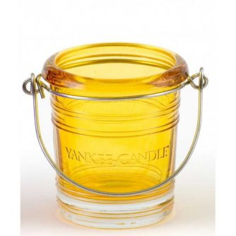 Yankee Candle Bucket - świecznik na samplery żółty - e-candlelove