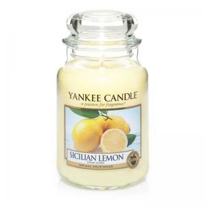 Yankee Candle Sicilian Lemon - duża świeca zapachowa - e-candlelove