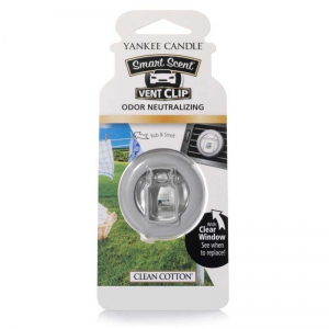 Yankee Candle Clean Cotton Car Vent Clip - zapach samochodowy - e-candlelove