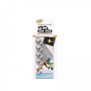 Yankee Candle Coconut Bay Car Vent Stick - zapach samochodowy op. 4 szt. - e-candlelove