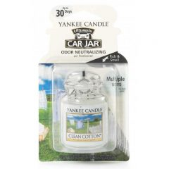 Yankee Candle Clean Cotton Car Jar Ultimate - zapach samochodowy - e-candlelove
