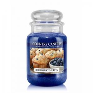 Country Candle Blueberry Muffin - duża świeca zapachowa - e-candlelove