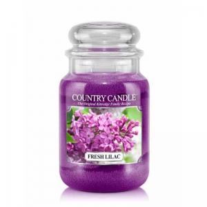 Country Candle Fresh Lilac - duża świeca zapachowa - e-candlelove
