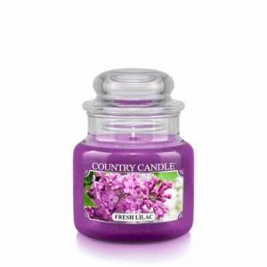 Country Candle Fresh Lilac - mała świeca zapachowa - e-candlelove