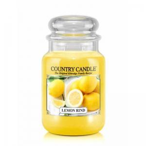 Country Candle Lemon Rind - duża świeca zapachowa - e-candlelove