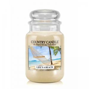 Country Candle Life s A Beach - duża świeca zapachowa - e-candlelove