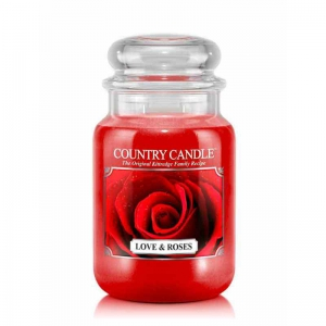 Country Candle Love & Roses - duża świeca zapachowa - e-candlelove