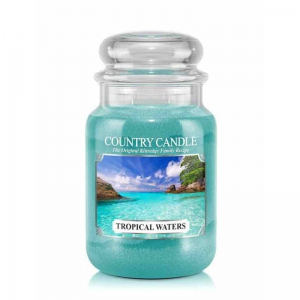 Country Candle Tropical Waters - duża świeca zapachowa - e-candlelove