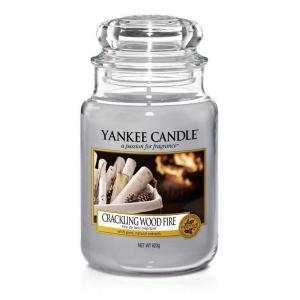 Yankee Candle Crackling Wood Fire - duża świeca zapachowa - e-candlelove