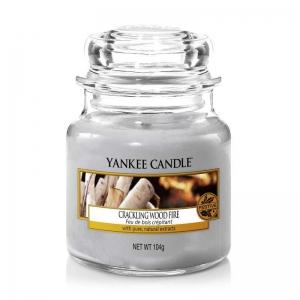 Yankee Candle Crackling Wood Fire - mała świeca zapachowa - e-candlelove