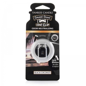 Yankee Candle Black Coconut Car Vent Clip - zapach samochodowy - e-candlelove