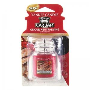Yankee Candle Sparkling Cinnamon Car Jar Ultimate - zapach samochodowy - e-candlelove