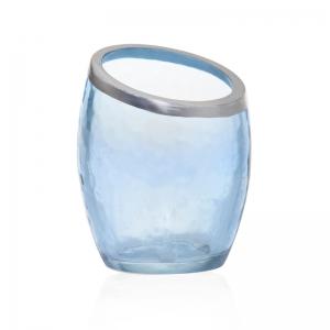 Yankee Candle Pearlescent Crackle - świecznik na samplery niebieski - e-candlelove