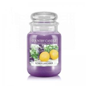 Country Candle Lemon Lavender - duża świeca zapachowa - e-candlelove