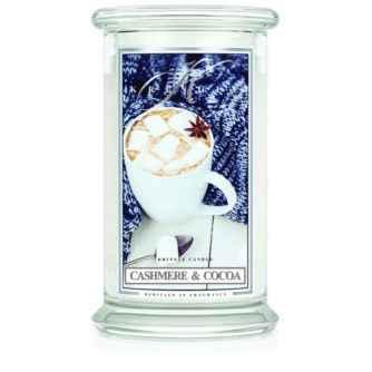 Kringle Candle Cashmere & Cocoa - duża świeca zapachowa - e-candlelove
