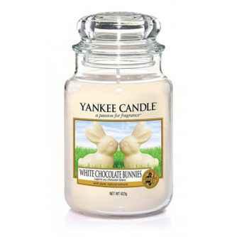 Yankee Candle White Chocolate Bunnies - duża świeca zapachowa - e-candlelove