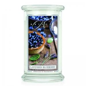 Kringle Candle Lavender Blueberry - duża świeca zapachowa - e-candlelove