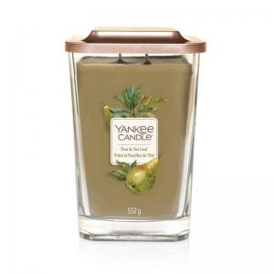 Yankee Candle Pear & Tea Leaf Elevation Coll. W/Plt Lid - duża świeca zapachowa - candlelove