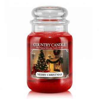 Country Candle Merry Christmas - duża świeca zapachowa - e-candlelove