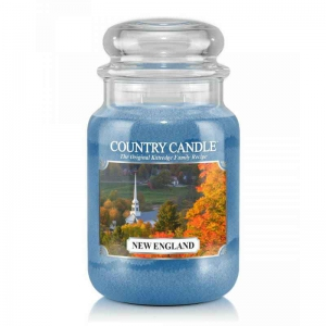 Country Candle New England - duża świeca zapachowa - e-candlelove