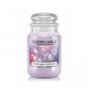 Country Candle Snowflakes Glistening - duża świeca zapachowa - e-candlelove