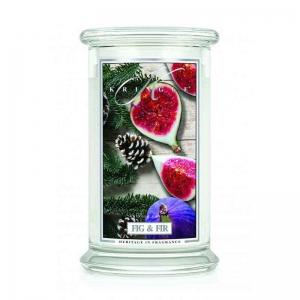 Kringle Candle Fig & Fir - duża świeca zapachowa - e-candlelove