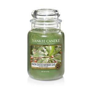 Yankee Candle Snow-Dusted Bayberry Leaf - duża świeca zapachowa - e-candlelove