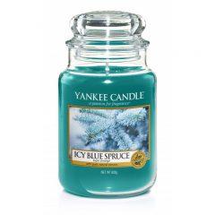Yankee Candle Icy Blue Spruce - duża świeca zapachowa - e-candlelove
