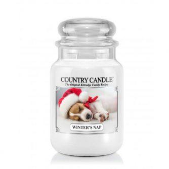 Country Candle Winter's Nap - duża świeca zapachowa - e-candlelove